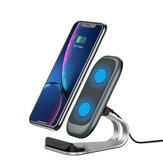 KUULAA 10W 7.5W 5W Fast Charing Qi Wireless Charger Dock Station Phone Holder For iPhone 8Plus XS 11 Pro Huawei P30 Pro Mate 30 5G Mi9 9Pro 5G