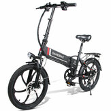 [EU Direct] SAMEBIKE 20LVXD30 48V 350W 10.4AH Electric Moped Bike 20 inch E-bike 35km/h Top Speed 80km Mileage Range Double Brake System Max Load 120kg EU Plug