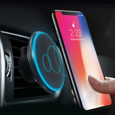 Qi Wireless Car شاحن Magnetic Mount Holder for iPhone Huawei P30/Mate 20 Pro