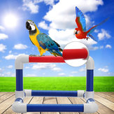Large PVC Parrot Perch Play Gym Stand Birds Training Playing Platform Tray Tablet Stand