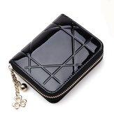 Mulheres elegantes PU couro multi-slots Holde cartão de carteira curta