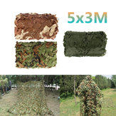 5x3m Car Cover Wojskowy kamuflaż Netto Hunting Woodland Army Training Camo Netting Car Tent Shade Camping Sunshade Net