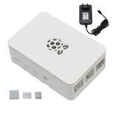 Черный / Белый / Прозрачный Raspberry Pi ABS Чехол Корпус Коробка V4 С радиатором + 5V3A Блок питания EU Plug DIY Набор Для Raspberry Pi 4B
