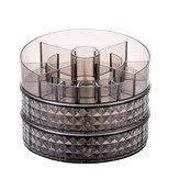 360度回転化粧品収納ボックスデスクトップホームスキンケアオーガナイザー収納ラックドレッシングテーブル1/2層