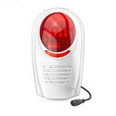Sirène stroboscopique extérieure sans fil étanche Bakeey pour la sécurité du système d'alarme GSM pour la maison intelligente