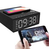 J21S multifunzionale Bluetooth Altoparlante caricabatterie wireless per telefono FM Radio Sveglia fai da te Registrazione musicale