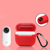 Bakeey Silicone Case for Insta360 Go Charging Box Shockproof Protective Case with Carabiner for Insta360 GO Charging Box