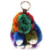 لطيف رقيق متعدد الألوان Soft أرنب كيرينغ حقيبة قلادة الحلي دمية مثيرة للاهتمام