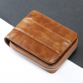 RFID Antimagnetic Vintage Genuine Leather Wallet