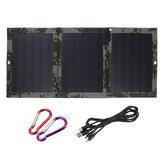 Jogos dobráveis duplos do carregador do painel solar Bateria de 40W 5V USB Sunpower para o carregamento de emergência