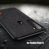 Bakeey Luxury Fabric Splice Soft Silicone Edge Shockproof Protective Case For Xiaomi Redmi Note 8 Non-original