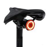 MEROCA MX2 100LM Smart Sensor Ljusbromsinduktion 24H Drifttid 4 lägen 500mAh USB Uppladdningsbar 180 ° Floodlight Utomhus Cykling Cykel Bakljus IPX6 Vattentät