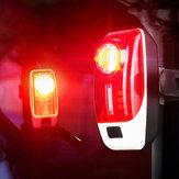 XANES® TL35 120LM Tylne światło roweru 5 trybów Akumulator USB Lampka ostrzegawcza LED nocą