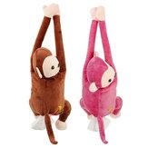 Tecido Caixa Suporte Dos Desenhos Animados Macaco Carro Pendurado Dispensador De Guardanapo De Papel