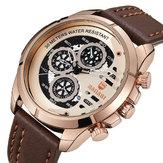 BAGARI 1802P 3ATM Waterproof Week Display Quartz Watch