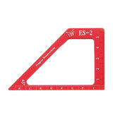 Drillpro ES-2 Aluminum Alloy 45 90 Degree Marking Angle Ruler with Base Height Ruler Woodworking Triangle Ruler Measuring Scribing Tool