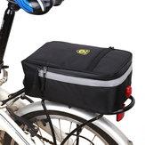 B-soul دراجة الأمتعة حقيبة متعددة الأغراض ضد للماء دراجة حقيبة دراجة السرج حقيبة الرف الخلفي مع دراجة الذيل ضوء