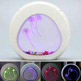 Aquarium Fish Tank Glowing Jellyfish LED 7 Color Light Home Desktop Decor