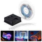1M تعمل بالطاقة الشمسية ضد للماء 8 طرق IP67 RGB الأبيض 30LED كرة السلة حافة الشريط ضوء للاستخدام في الهواء الطلق