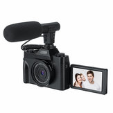 Videocamera KOMERY 4K Vlog 30MP 16X Visione notturna digitale fotografica Supporto Microfono per Tik Tok Youtube Live Streaming