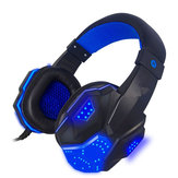 3.5mm USB Wired Gaming Headband Headphone with LED Light Surround Stereo Headset for XBOX PS4 Game Console Computer