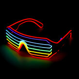 4 Modos LED Glow EL Óculos Festa Piscando Festival Neon Fio Bar Party Light Up Goggles