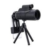 50x60 HD Telescopio ottico Smart Zoom monoculare con illuminazione Laser + treppiede + clip per cellulare