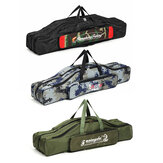 ZANLURE 80cm/90cm Folding Fishing Rod Carrier Multi-functional Fishing Pole Tools Storage Fishing Bag Case Fishing Gear Tackle
