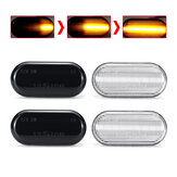 Dynamic Flowing LED Side Marker Indicator Lights Repeaters Lamp Amber for Nissan Tiida Qashqai Navara D40