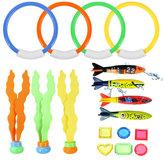 17Pcs Underwater Swimming Diving Pool Toys Kids Fun Dive Training Toy