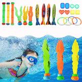 22個のダイビングおもちゃダイブリング魚雷スティック夏の水泳レクリエーションキットセット水中おもちゃ