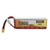ZOP Power 11.1V 5000mAh 80C 3S Lipo Battery XT60 Plug for RC Racing Drone