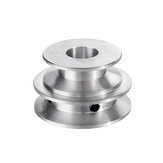 Aluminum Alloy 40&50mm Double Groove Pulley 8-20MM Fixed Bore V-shape Pulley Wheel for 10MM Belt