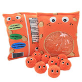 Orange Cheesy Stuffed Plush Soft Puffs Dolls Toy for Baby Gift
