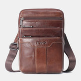 Men Genuine Leather Shoulder Bag Crossbody Bag Phone Bag