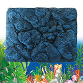 Reptile Aquarium Fish Tank Background 3D Rock Stone Board Plate Decorations 60x45cm
