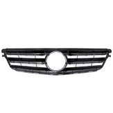 Car Glossy Black Front Upper Grille Grill For Mercedes C Class W204 C180 C200 C300 C350 2008-2014
