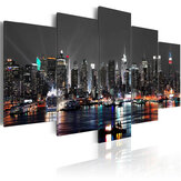 5 STKS Enorme New York Night Canvas Schilderij Schilderijen Foto Art Wall Home Decorations