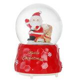 سانتا كريستال الكرة مع الإضاءة موسيقى الآثار موسيقى مربع هدية عيد الميلاد الجدول الديكور المنزل