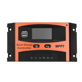 30A/40A/50A/60A MPPT Solar Charge Controller 12V/24V LCD Accuracy Dual USB Solar Panel Battery Regulator Built-in Timer