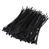 Suleve ZT08 Nylon 250Pcs 8mm 15/20/25/30/35/40cm Black/White Nylon Self-locking Cable Tie Zip Ties Strong Tensile Strength