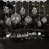 Miico XH7243 Adesivo de Natal Decoração de Casa Adesivo Janela e Adesivo de Parede Loja Adesivos Decorativos