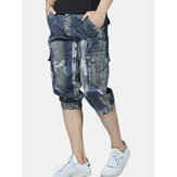 Casual Camo Multi Pockets Jogger Pants Short Jeans