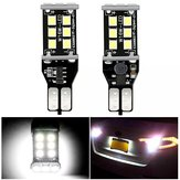 2PCS T15 W16W Car LED Backup Reverse Lights Bulb CANBUS Error Free 7.2W 1200LM White