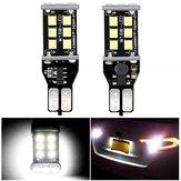 2 PCS T15 W16W Carro LED Luzes Reversas Lâmpada CANBUS Erro Livre 7.2 W 1200LM Branco