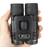 Складной телескоп Mini 40x22 Водонепроницаемы Бинокль Ночного видения Кемпинг Travel