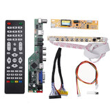 T.V53.03 Universal LCD LED TV Controller Driver Board TV/PC/VGA/HDMI/USB+7 Key Button+2ch 6bit 30pins LVDS Cable+1 Lamp Inverter
