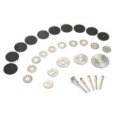 Drillpro 30pcs Grinding Polishing Wheel Set 1/8 Inch Shank Saw Blade and Cutting Discs