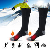 1 Pair Rechargeable Electric Heated Socks Cycling Skiing Winter Warmth Feet Foot Socks