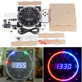 Geekcreit® Full Color RGB Large Screen Multifunctional Electronic Clock DIY Kit Light Control Digital Tube Display Module MCU LED Clock
